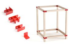 IKEA HACKA - The design involve four different types of joints. With these the user can build diverse framelayouts for any desired setup. On the following images you can see how it works.
