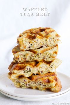 Waffled Tuna Melt >> ok, ok, i admit it, i'm waffle-crazy. but come on, the idea of a waffle sandwich is just too good to pass up!