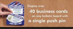 CardCues   Printable, Pinnable, Business Card Holders, Recycled, Blue, Black, Green, Rainbow, Pink, White, Blank
