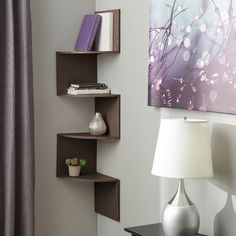 Features:  -Great for saving space.  -Includes the screws and anchors for wall mounting.  -Construction Material: Manufactured wood.  Frame Material: -Manufactured wood.  Shelf Material: -Manufactured