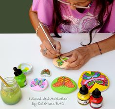 New butterflies are on the way Then, new birds, then mandalas, owls, other designs .. My colorful, peaceful #paintedstones gives me so much happiness.. I hope to you too :)  https://www.facebook.com/ISassiDelladriatico