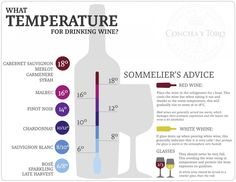 Concha y Toro, one of Chile's largest wineries, has a handy infographic about the ideal temperature for serving wine. Among their suggestions: chill red wine for an hour before serving.