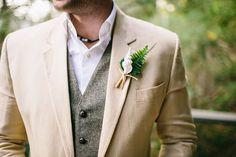 Groom Tan Suit Gray Vest | photography by http://www.natasjakremersblog.com/