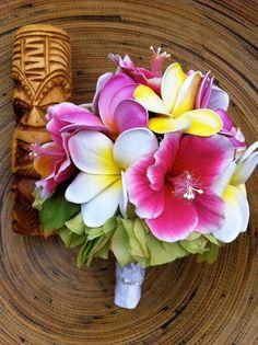 Tiki  brides bouquet by flowersbythevase on Etsy