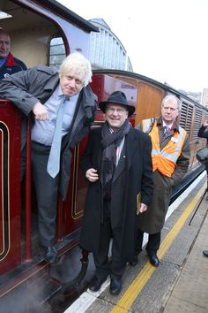 Mayor Boris Johnson, Transport Commissioner Sir Peter Hendy, MD London Underground and London Rail Mike Brown