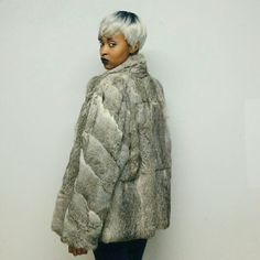 Rabbit fur coat Vintage rabbit fur coat for the crisp and cold seasons. Perfect for looking gorgeous and feeling warm! Make me an offer , I'm willing to negotiate Vintage Jackets & Coats