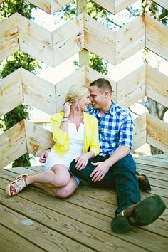 Chevron wall for engagement photos :)