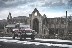 "1,255 Likes, 1 Comments - @landroverphotoalbum on Instagram: """"Stopped by Tintern Abbey to walk the dog today...obviously! I'm a bit of a nerd for old buildings;…"""