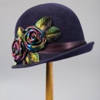 Purple Cloche Hat. @designerwallace