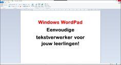Edu-Curator: Windows WordPad: leuke simpele tekstverwerker voor jouw leerlingen!