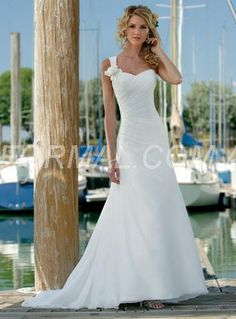 Beformal.com.au SUPPLIES Elegant A-Line/Princess Floor-Length One-Shoulder Court Train  Wedding Dress Beach Wedding Dresses