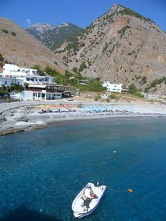 Agia Roumeli is a small village in southwest Crete_ Greece
