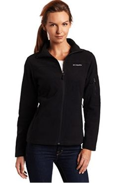 Columbia Women's Fast Trek II Full Zip Fleece Jacket, Black, Medium Full-zip long-sleeve fleece jacket with four-way comfort stretch Zippered pockets on front and sleeve Winter Jackets Women, Coats For Women, Clothes For Women, Women's Clothes, Winter Coats On Sale, Columbia Fleece, Columbia Jacket, Zip Ups, Trek