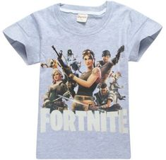 ac6d772de46 Fortnite Battle Royale Legend Gaming Pattern Tops Baby Girls Boys T-shirt