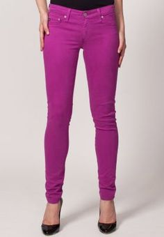 Give your life a pop of colour with The Jegging by Adriano Goldschmeid. Look smart and stylish with a light colored shirt and a black belt. Finish off the outfit with a tailored jacket and stacked wedges for more formal occasions. | fb.com/zalorasingapore #purple #jeans