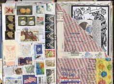 Art journal by FarStarr #postal #stamps