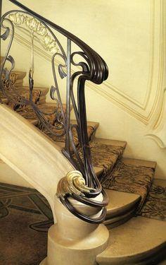 Majorelle - Rampe d'escalier pour la maison Bergeret406