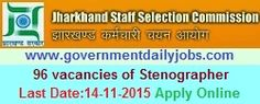 JSSC RECRUITMENT 2015 STENO VACANCIES ~ Government Daily Jobs
