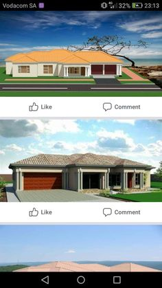 Ház 1 Round House Plans, Tuscan House Plans, Free House Plans, House Plans With Photos, Best House Plans, Architect Design House, House Roof Design, Architectural Design House Plans, Facade House