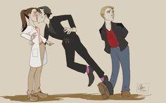 This is so cute! John knows Sherlock likes Molly. He made the move for Sherlock Sherlock Fandom, Sherlock Holmes, Sherlock Comic, Sherlolly, 221b Baker Street, Arthur Conan Doyle, John Watson, Johnlock, Movies