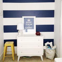 DIY: Vinyl stripe walls instead of paint. www.pencilshavingsstudio.com