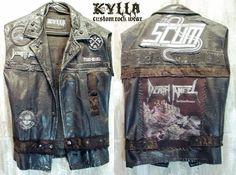 Custom Made Custom Vest Rock Metal Punk Stage Rockstar Leather Denim