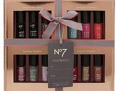 NO7 12 Colours of the Year Nail Polish 100 Advantage card points. Grab this No7 12 Colours of the Year Nail Polish Collection for a beautiful gift! This handpicked selection of exciting shades is perfect to see loved ones through every sea http://www.comparestoreprices.co.uk/nail-products/no7-12-colours-of-the-year-nail-polish.asp