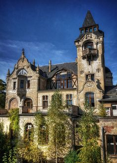 Abandoned villa in Lower Silesia, Poland. Built as a residence when Lower Silesia was part of Prussia, it was converted into a school after the second World War.