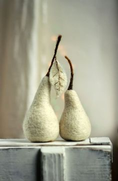 Felt Art By Mariana: Needle Felt Pears