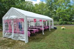 {Tent} Outdoor party tent, first birthday party