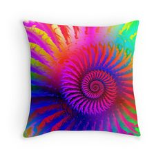 #Hippy #Psychedelic #Fractal #Art #Pillow