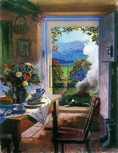 'There's No Place Like Home' by contemporary English Impressionist painter Stephen Darbishire Art And Illustration, Illustrations, Creation Photo, Cottage Art, Ouvrages D'art, Country Art, Home Art, Painting & Drawing, Art Photography