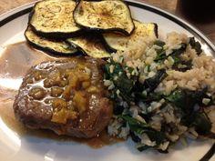 Amazing Beef idea and roasted eggplant