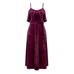Warehouse, CRUSHED VELVET CAMI DRESS Dark Purple 1