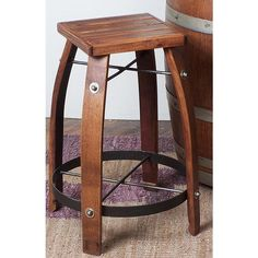 Designs 26 Stave Stool w/ Wood Top - Recycled wine barrel staves creatively designed into bar stools. Stave stools are ecofriendly wine barrel furniture. Wine Barrel Bar Stools, 26 Bar Stools, Counter Height Stools, Wine Barrels, Kitchen Stools, Barrel Table, Wine Cellar, Kitchen Island, Wood Counter
