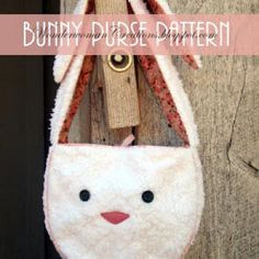 Floppy Eared Bunny Purse {Holiday Patterns}