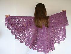 Ravelry: Flowering Almond Shawl pattern by Zsuzsanna Makai $5
