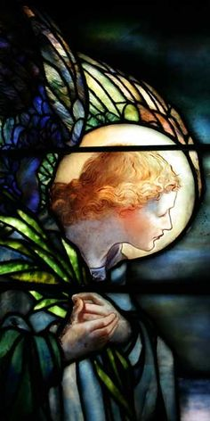 Tiffany Glass and Decorating Company | I am the Resurrection and the Life (detail of angel), H. Josephine Widner Memorial Window, 1896 | 165 x 120 inches | Leaded glass | St. Paul's Episcopal Church, Elkins Park, PA