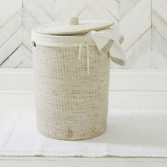 Find the perfect laundry basket for your bathroom at The White Company. Shop our full range of laundry & storage items including baskets, caddies, drawers & bins. White Wicker Laundry Basket, Linen Baskets, Wooden Basket, Bathroom Accessories, Home Accessories, Washing Basket, Tumblr Rooms, Small Laundry Rooms, Laundry Storage