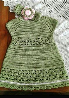 39 lovely crochet baby dress patterns Part 8 - Before After DIY Crochet Baby Dress Pattern, Baby Dress Patterns, Baby Girl Crochet, Crochet Baby Clothes, Crochet For Boys, Baby Blanket Crochet, Crochet Patterns, Crochet Designs, Baby Knitting