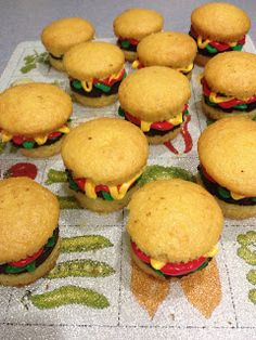 Keeley McGuire: Food for Thought: Hamburger Cupcakes & Cookie Fries - Gameday Special!