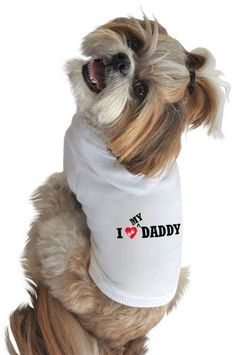 Ruff Ruff and Meow Dog Hoodie I Love My Daddy White Small *** Check this awesome product by going to the link at the image.