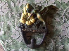 Vintage Wall Hook Cast Iron Hummingbird on by VintageFairRetroRare, $10.00
