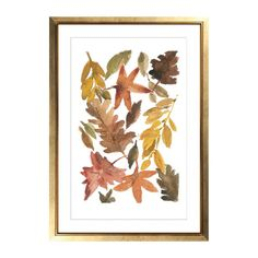 Art print All the leaves are Brown autumn leaves by TheJoyofColor