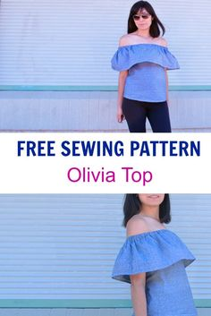 FREE PATTERN ALERT: Learn how to make this easy and trendy off-the-shoulder top…