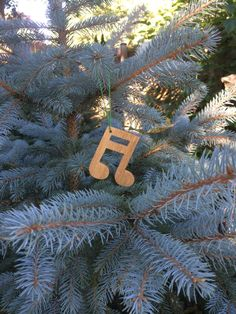 16th note ornament by DustWitchCreations on Etsy