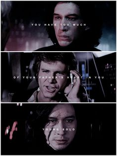 There's too much Vader in him.#ben solo #kylo ren