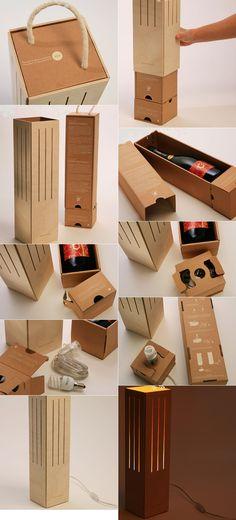 ♨ mONSTER dESIGN bLOG - 몬스터디자인 블로그 :: 와인 케이스가 램프로 재활용되는 와인 선물세트