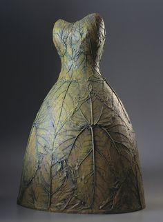 green - Leaf Dress - plaster - Leslie Fry