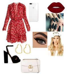 """I made this on my phone"" by lauren-paul-sets on Polyvore featuring Raquel Diniz, Charlotte Olympia, Henri Bendel, Gucci and Forever 21"